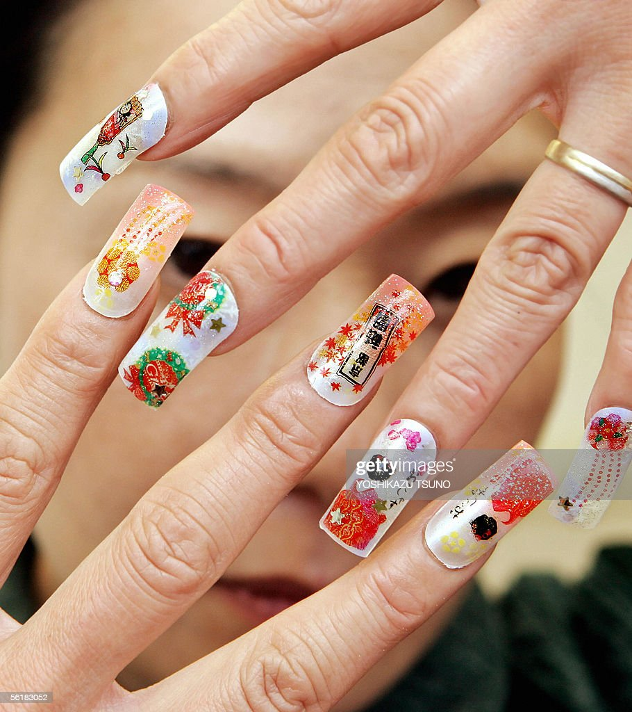 nail salon manager displays its ese acrylic nail art photos a nail salon manager kazumi nakagawa displays her ese arcrylic nail art which is designed