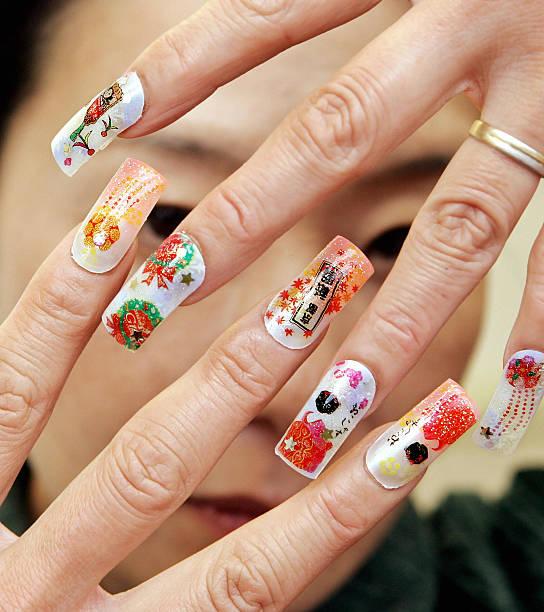 Nail salon manager displays its japanese acrylic nail art photos nail salon manager displays its japanese acrylic nail art prinsesfo Images
