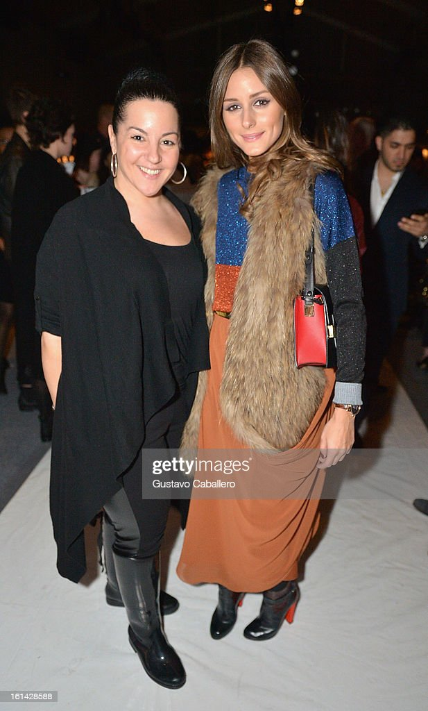Nail stylist Elle and <a gi-track='captionPersonalityLinkClicked' href=/galleries/search?phrase=Olivia+Palermo&family=editorial&specificpeople=2639086 ng-click='$event.stopPropagation()'>Olivia Palermo</a> attends the Red Carpet Manicure - Exclusive Nails of Noon by Noor at The Studio at Lincoln Center on February 8, 2013 in New York City.