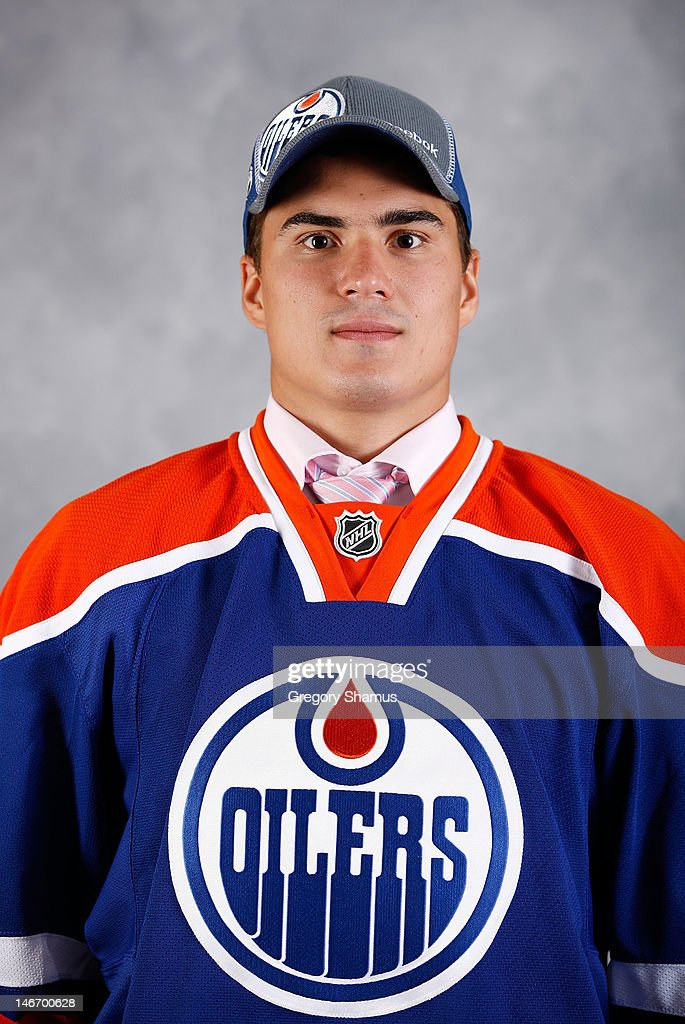 Nail Yakupov, drafted first overall by the Edmonton Oilers, poses for a portrait during Round One of the 2012 NHL Entry Draft at Consol Energy Center on June 22, 2012 in Pittsburgh, Pennsylvania.