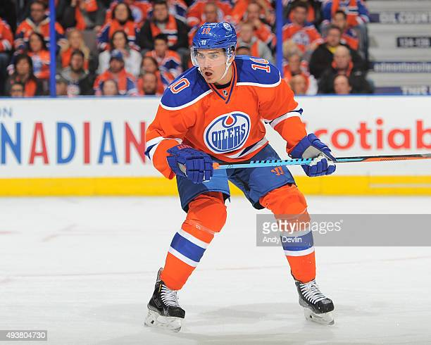 Nail Yakupov of the Edmonton Oilers skates during a game against the St Louis Blues on October 15 2015 at Rexall Place in Edmonton Alberta Canada