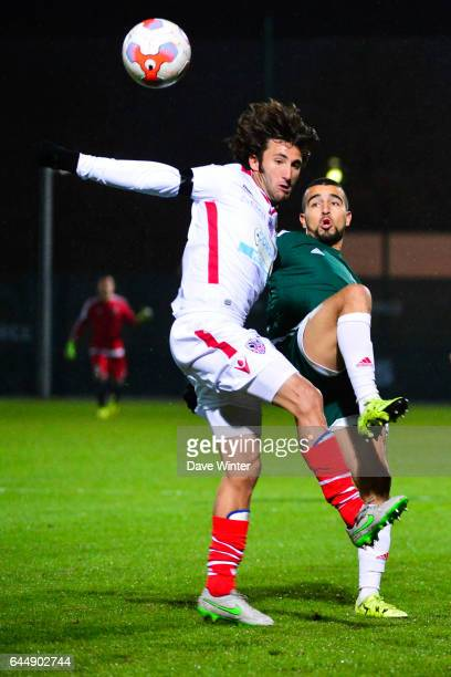 Naim SLITI / Anthony LIPPINI Red Star / Ajaccio 15eme journee de Ligue 2 Photo Dave Winter / Icon Sport