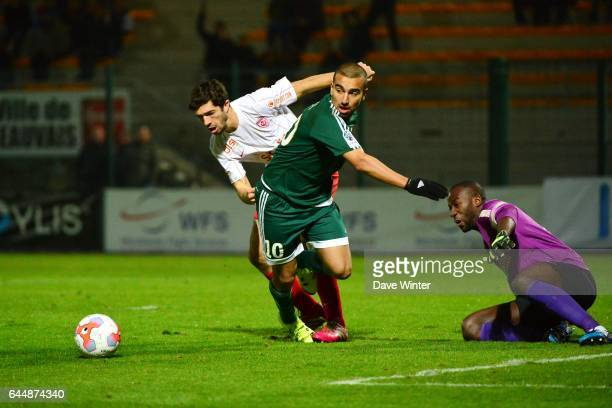 Naim SLITI / Guy Roland NDY ASSEMBE / Ibrahim AMADOU Red Star / Nancy Ligue 2 11e journee Photo Dave Winter / Icon Sport