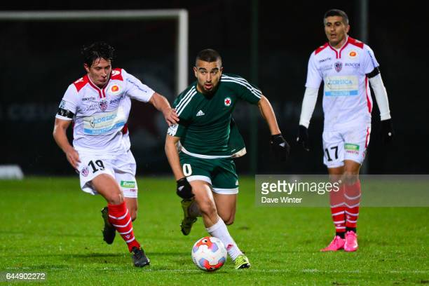 Naim SLITI / Laurent ABERGEL Red Star / Ajaccio 15eme journee de Ligue 2 Photo Dave Winter / Icon Sport