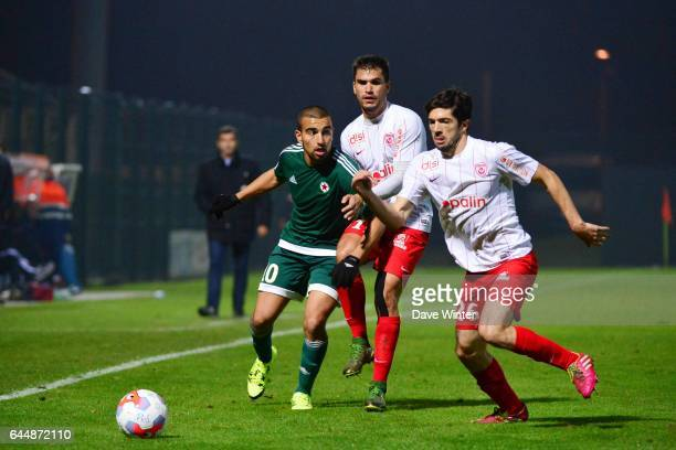 Naim SLITI / Loic PUYO / Vincent MURATORI Red Star / Nancy Ligue 2 11e journee Photo Dave Winter / Icon Sport
