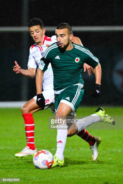 Naim SLITI / Mouaad MADRI Red Star / Ajaccio 15eme journee de Ligue 2 Photo Dave Winter / Icon Sport