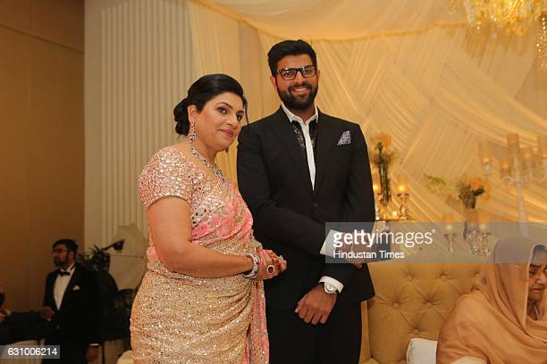 Naina Chautala and Digvijay Chautala during an engagement ceremony of Hisar MP Dushyant Chautala and Meghna Ahlawat on January 3 in Gurgaon India...
