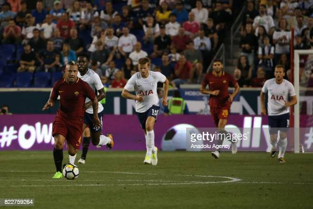 Nainggolan of AS Roma in action during International Champions Cup 2017 friendly match between Roma and Tottenham at Redbull Arena Stadium in...