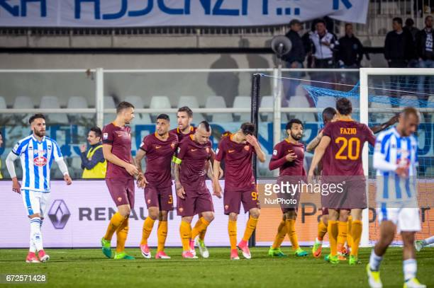 Nainggolan Radja during the Italian Serie A football match Pescara vs Roma on April 24 in Pescara Italy