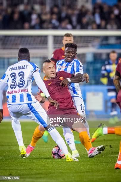 Nainggolan Radja during the Italian Serie A football match Pescara vs Roma on April 24 in Pescara Italy