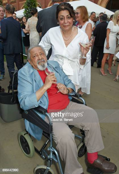 Naipaul and Nadira Naipaul attend the 2017 annual VA Summer Party in partnership with Harrods at the Victoria and Albert Museum on June 21 2017 in...
