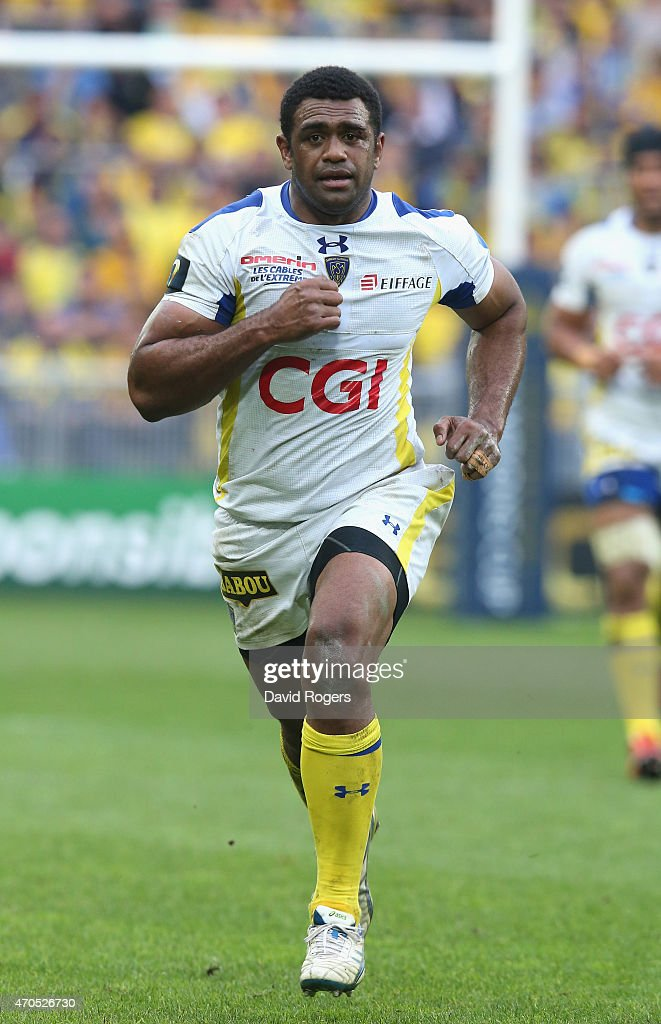 Naipoliioni Nalaga of Clermont Auvergne looks on during the European Rugby Champions Cup semi final match between ASM Clermont Auvergne and Saracens at Stade Geoffroy-Guichard on April 18, 2015 in Saint-Etienne, France.
