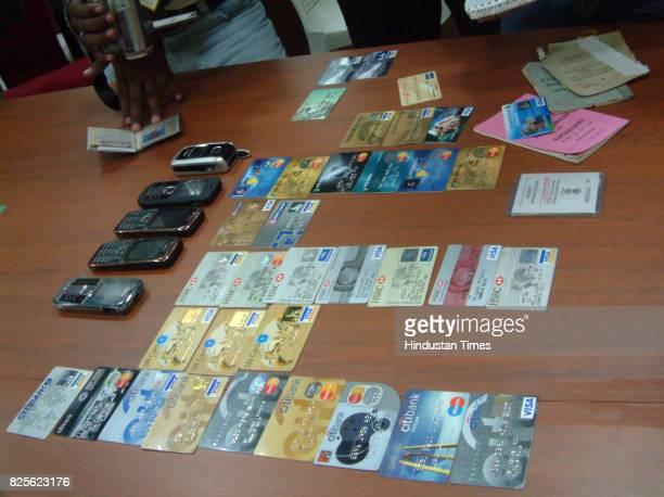 Credit Cards and Mobile phones recovered from the flat where the nair family allegedly committed suicide due to financial crisis in their rented flat...