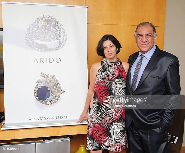 Naira Kasparian and Sam Salama attend the ARIDO Jewelry Presenting At DPA during the Toronto Film Festival 2016 at Soho Metropolitan Hotel on...