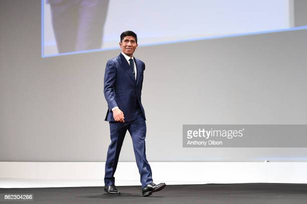 Nairo Quintana during the presentation of the Tour de France 2018 at Palais des Congres on October 17 2017 in Paris France