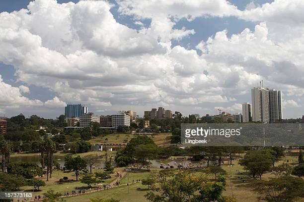 Vue aérienne de la ville de Nairobi