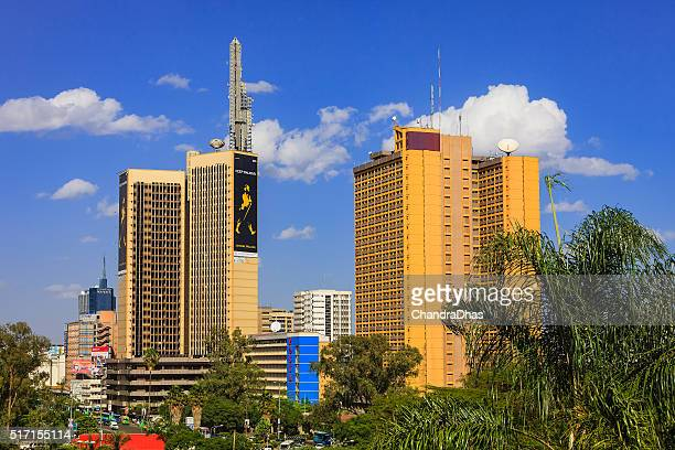 Nairobi, Kenya - Busy downtown Kenyatta Avenue