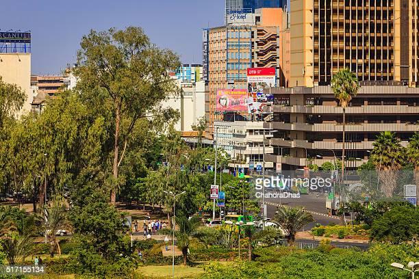 Nairobi, Kenya - Busy downtown Kenyatta Avenue