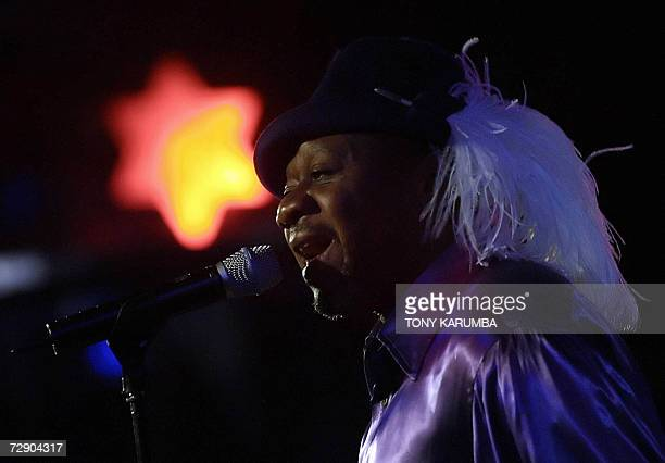 Congolese Afropop music icon Papa Wemba performs 29 December 2006 in Nairobi during one of the two shows of his Kenyan tour Often called the 'King of...