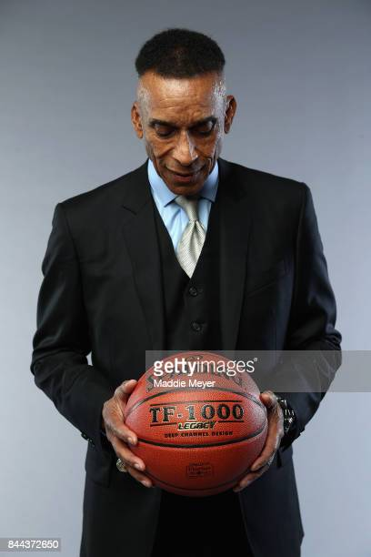 Naismith Memorial Basketball Hall of Fame Class of 2017 enshrinee Mannie Jackson poses for a portrait at the Naismith Memorial Basketball Hall of...