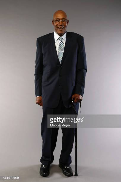 Naismith Memorial Basketball Hall of Fame Class of 2017 enshrinee George McGinnis poses for a portrait at the Naismith Memorial Basketball Hall of...