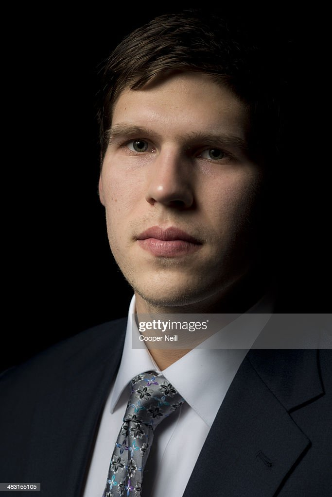 Naismith Trophy winner <a gi-track='captionPersonalityLinkClicked' href=/galleries/search?phrase=Doug+McDermott&family=editorial&specificpeople=7544468 ng-click='$event.stopPropagation()'>Doug McDermott</a> of Creighton poses for a portrait before the AT&T NABC Guardians of the Game Awards Show at the Music Hall At Fair Park on April 6, 2014 in Dallas, Texas.