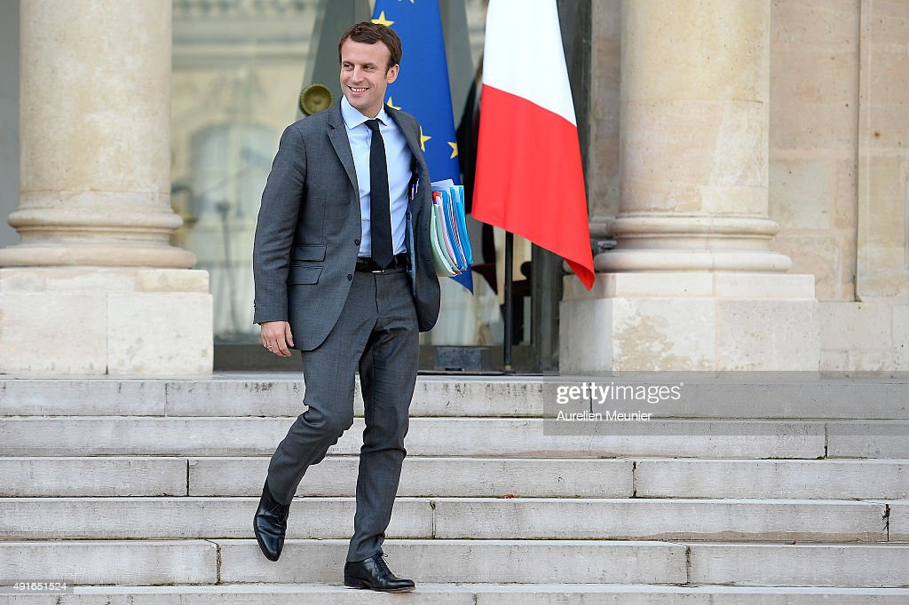 Najat Vallaud-Belkacem, French Minister of Economy leaves the Elysee Palace after the weekly cabinet meeting on October 7, 2015 in Paris, France.