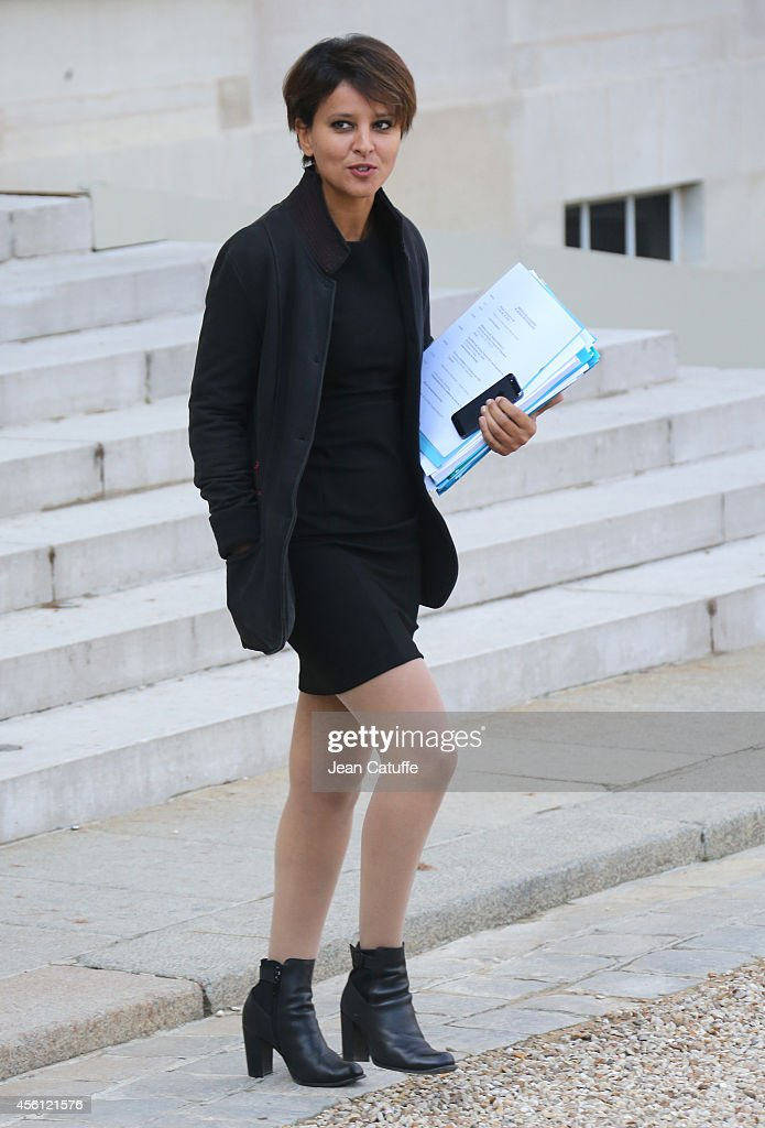 <a gi-track='captionPersonalityLinkClicked' href=/galleries/search?phrase=Najat+Vallaud-Belkacem&family=editorial&specificpeople=4115928 ng-click='$event.stopPropagation()'>Najat Vallaud-Belkacem</a>, French Minister of Education attends the 'Conseil des Ministres', the weekly Cabinet meeting around the French President at Elysee Palace on September 25, 2014 in Paris, France.