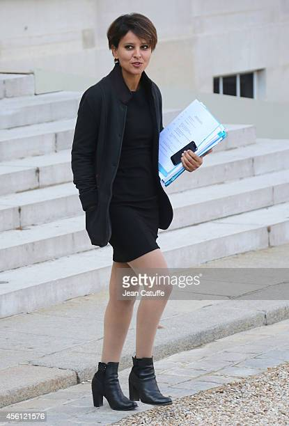 Najat VallaudBelkacem French Minister of Education attends the 'Conseil des Ministres' the weekly Cabinet meeting around the French President at...