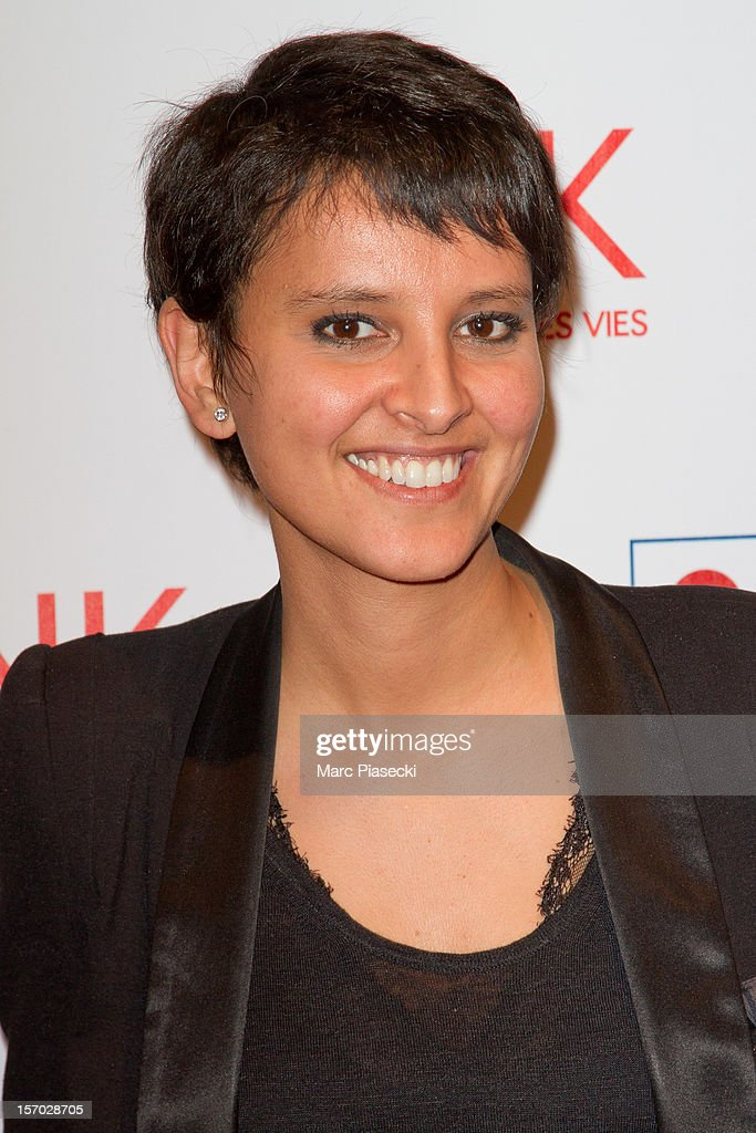 Najat-Vallaud Belkacem attends the LINK dinner for AIDS '100 photographes se mobilisent contre le Sida' at Grand Palais on November 27, 2012 in Paris, France.