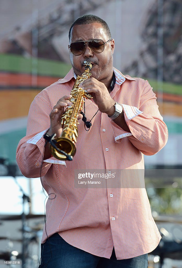 Najee performs at the 8th Annual Jazz In The Gardens Day 1 at Sun Life Stadium presented by the City of Miami Gardens on March 16, 2013 in Miami Gardens, Florida.