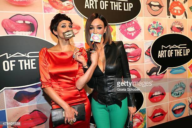 Najet el Kamel Verona Pooth during the presentation of 'Art of the Lip' by MAC Cosmetics at Haus der Kunst on June 24 2015 in Munich Germany