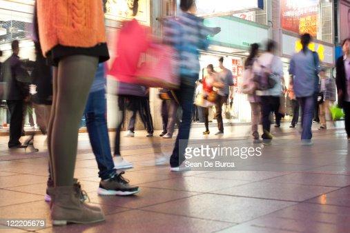Najing Road, Shopping Street, Shanghai. : Stock Photo