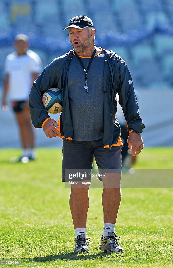 Naka Drodske during a Cheetahs training session at Free State Stadium on May 08, 2013 in Bloemfontein, South Africa.