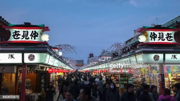 Nakamise shopping street, Asakusa, Tokyo, Japan
