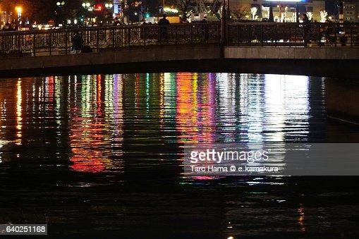 Nakasu town in Hakata night view