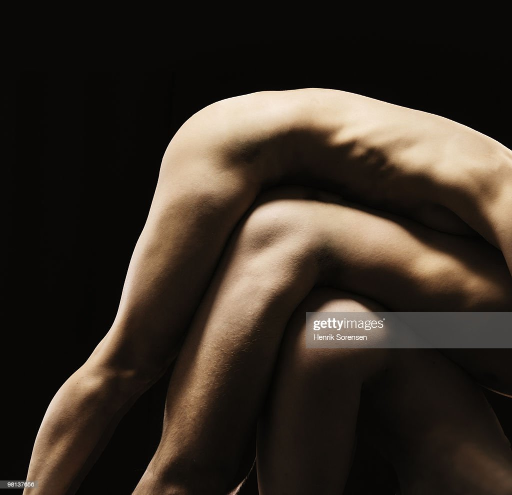 Naked bodies stacked : Stock Photo
