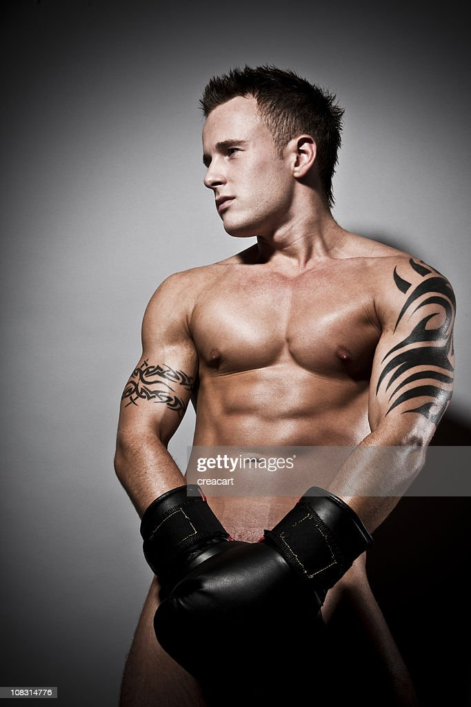 Naked Boxing Muscular Male Stock Photo | Getty Images