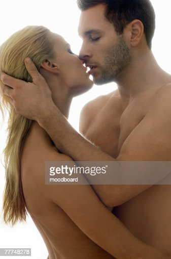 Naked Couple Kissing Stock Photo | Getty Images