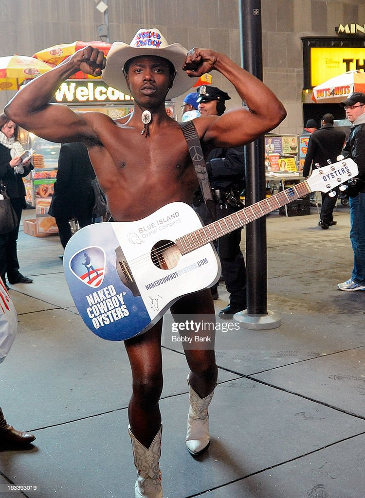 <a gi-track='captionPersonalityLinkClicked' href=/galleries/search?phrase=Naked+Cowboy&family=editorial&specificpeople=590156 ng-click='$event.stopPropagation()'>Naked Cowboy</a> seen in the streets on March 8, 2013 in New York City.