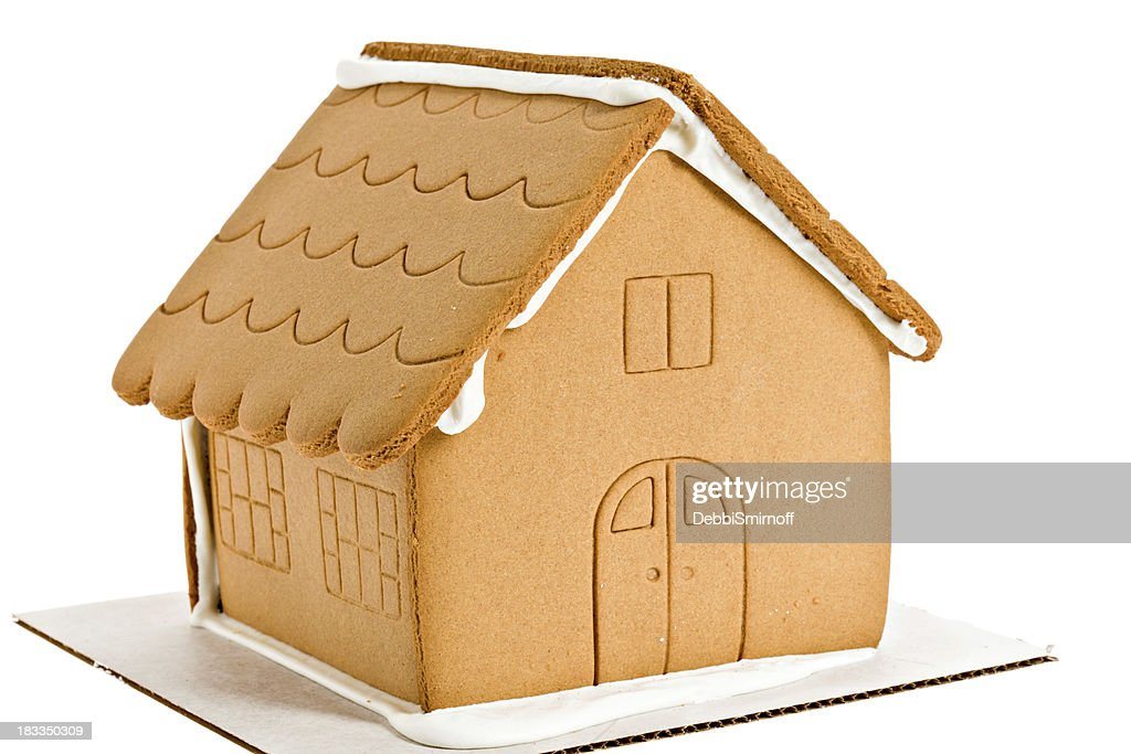 Naked Gingerbread House Isolated