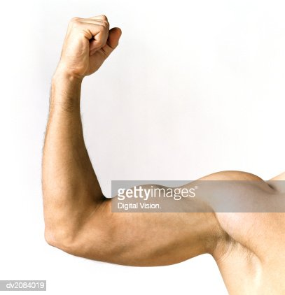 Naked Man Showing His Biceps
