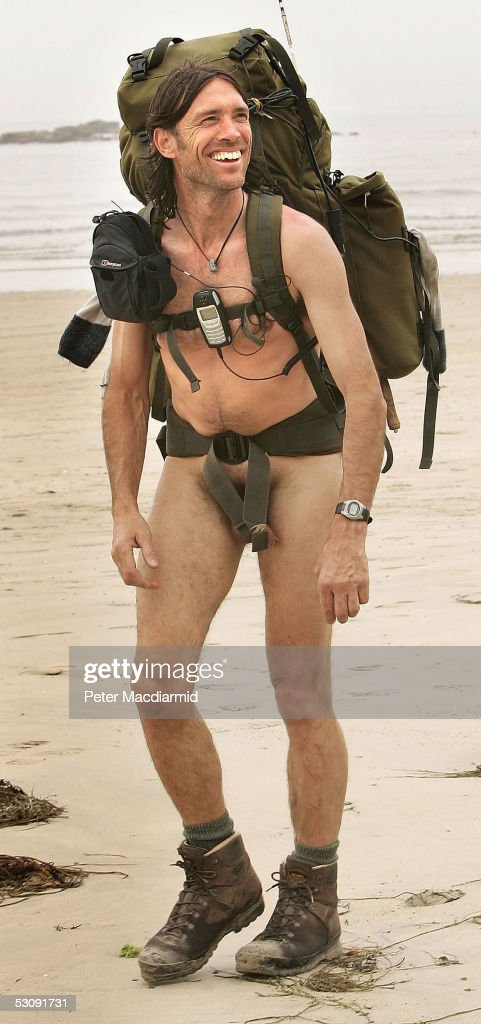 Naked rambler Stephen Gough continues his walk to John O'Groats on June 17, 2005 at Marazion , England. Gough took the same challenge two years ago and was arrested 14 times.