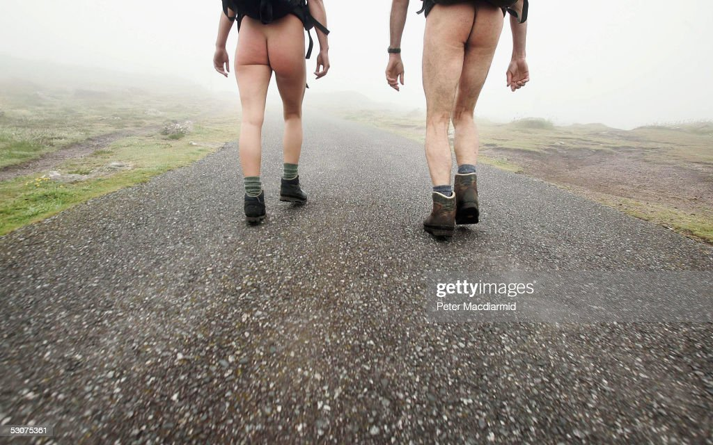 Naked ramblers Stephen Gough and Melanie Roberts set off on their walk to John O'Groats on June 16, 2005 at Land's End, England. Former Royal Marine, Gough, took the same challenge two years ago and was arrested 14 times. The walk, which Gough would like to make an annual event of, should take two months provided he and his fellow ramblers arn't arrested.