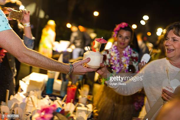 Naked Tiki being served at the 2016 Food Network Cooking Channel South Beach Wine Food Festival Presented By FOOD WINE at Surfcomber Hotel on...