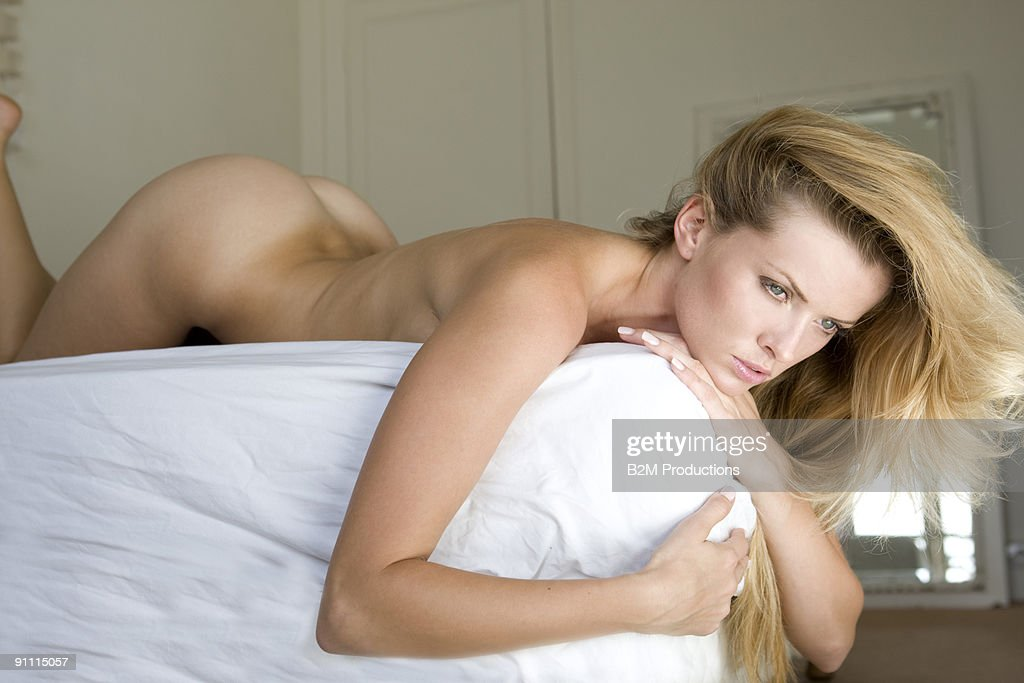 Nude girl lying on bed 8650 think, what