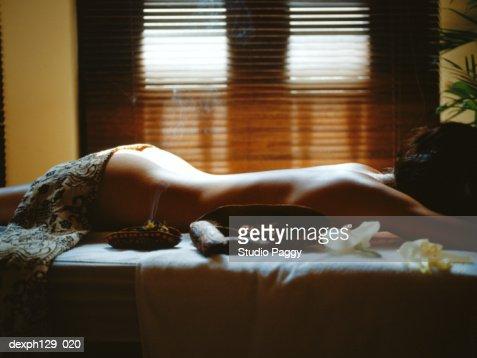 black girl oiled naked