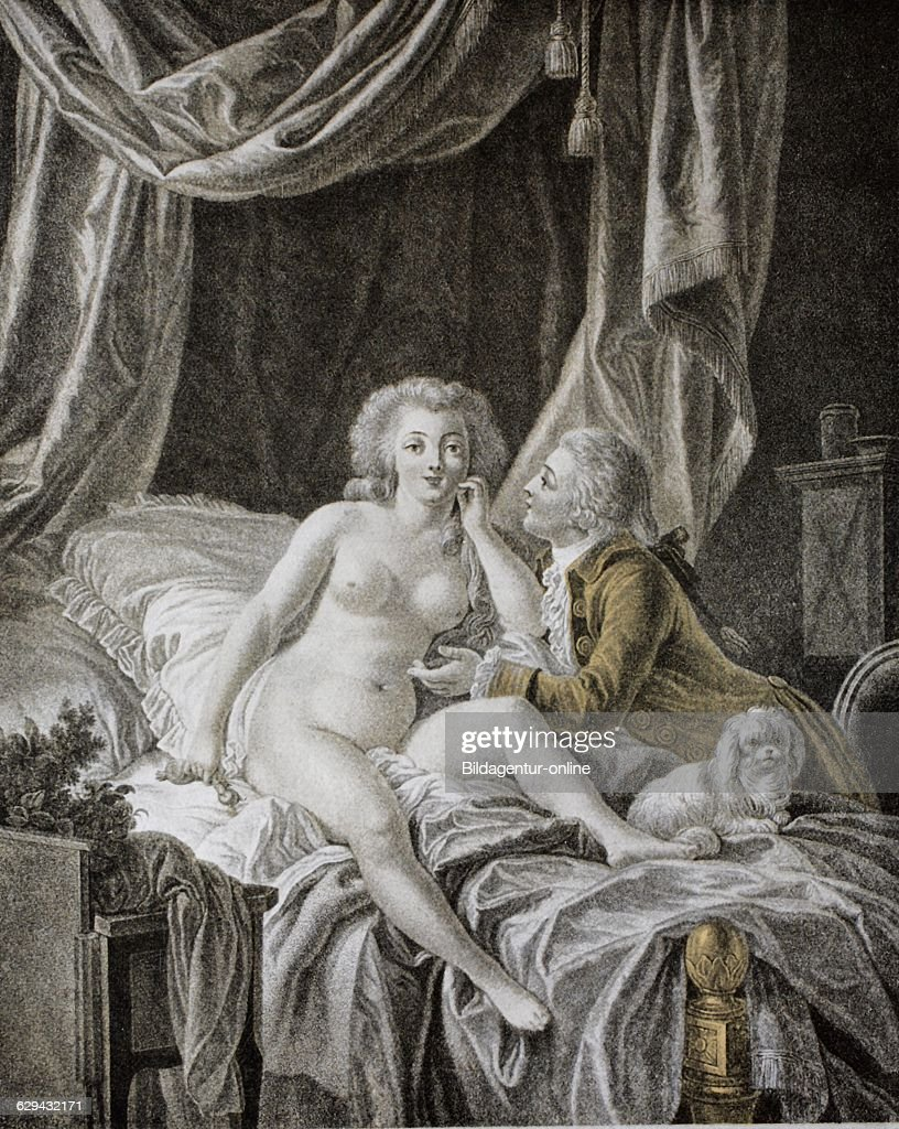 french engraving after a painting by huet pictures getty images naked w on bed lover french engraving after a painting by huet 18th