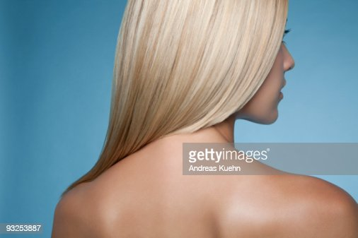 Naked woman rear view, close up. : Stock Photo