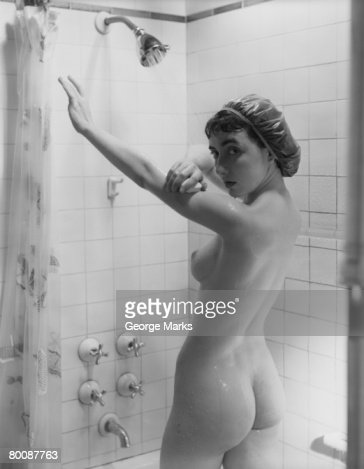 Woman Showering Nude 17